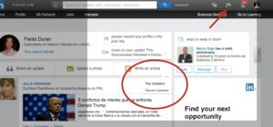 Newsfeed de LinkedIn