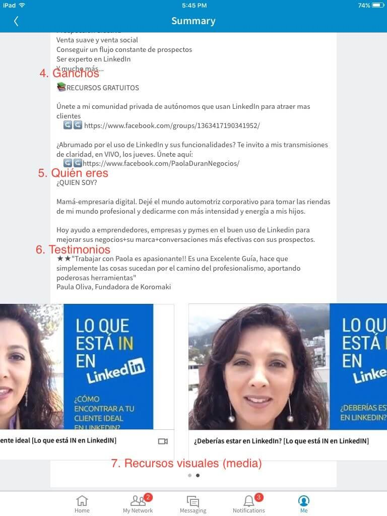 Paola Duran Resumen LinkedIn