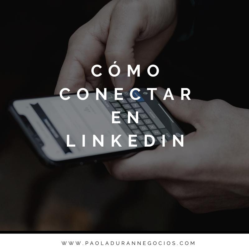 Cómo se conecta en LinkedIn