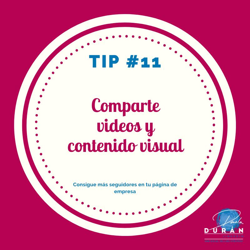 comparte videos en linkedin  ,tips empresa LinkedIn