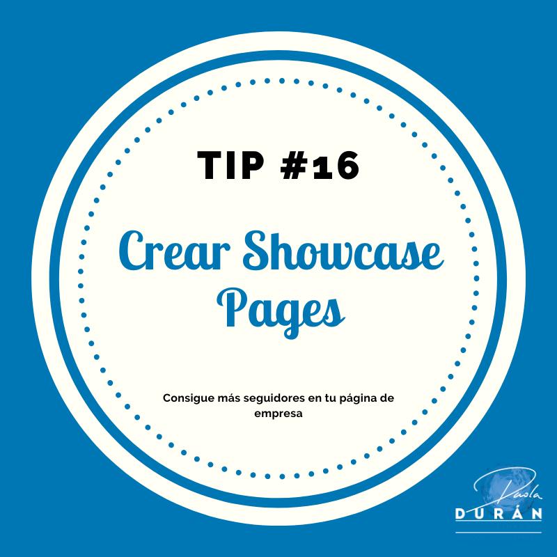 Crea páginas de showcase  , tips empresa LinkedIn