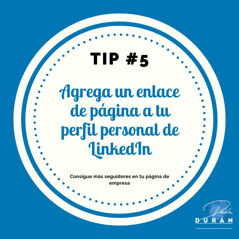 Agrega un enlace a tu perfil de LinkedIn ,tips empresa LinkedIn
