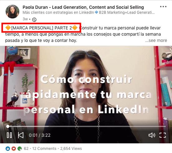 contenido en LinkedIn